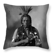 Portrait Of Cree Indian Throw Pillow