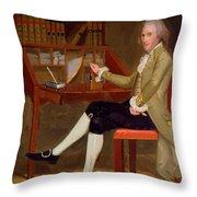 Portrait Of David Baldwin 1790 Throw Pillow