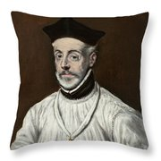 Portrait Of Diego De Covarrubias Y Leiva Throw Pillow