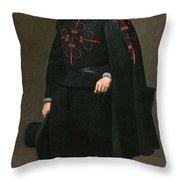 Portrait Of Don Pedro De Barberana Diego Rodriguez De Silva Y Velazquez Throw Pillow