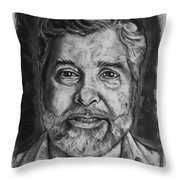 Portrait Of Douglas Throw Pillow