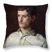 Portrait Of Douglass Morgan Hall Throw Pillow
