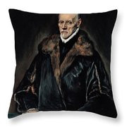 Portrait Of Dr. Francisco De Pisa Throw Pillow