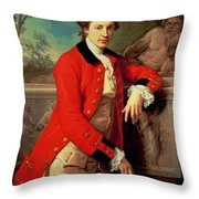 Portrait Of Edmund Rolfe Throw Pillow