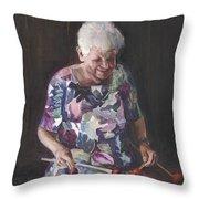 Portrait Of Edwinna Throw Pillow