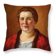 Portrait Of Ekaterina Ivanovna Kogan Throw Pillow