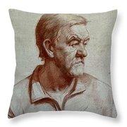 Portrait Of Elderly Man Throw Pillow
