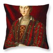 Portrait Of Eleanora Di Toledo Throw Pillow