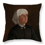 Portrait Of Elseberg Herrestvedt Throw Pillow
