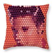 Portrait Of Elvis Presley  Throw Pillow