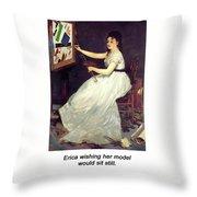 Portrait Of Eva Gonzales 1870 Throw Pillow