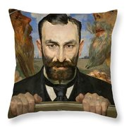 Portrait Of Feliks Jasienski Throw Pillow