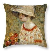 Portrait Of Frances Kilmer Throw Pillow