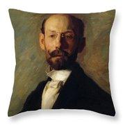 Portrait Of Frank B A Linton 1904 Throw Pillow
