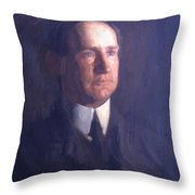 Portrait Of Frank Lindsay Greenwalt 1903 Throw Pillow