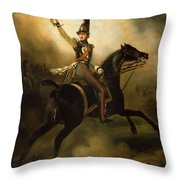 Portrait Of Friedrich Heinrich Throw Pillow by Emile Jean Horace Vernet
