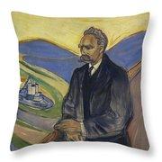 Portrait Of Friedrich Nietzsche Throw Pillow