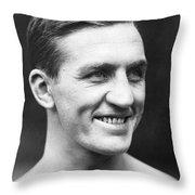 Portrait Of George Carpentier Throw Pillow