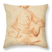 Portrait Of George Graham   Throw Pillow
