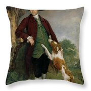 Portrait Of George Venables Vernon Throw Pillow by Thomas Gainsborough