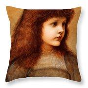 Portrait Of Gertie Lewis Throw Pillow