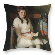 Portrait Of Gertrude Russell Throw Pillow
