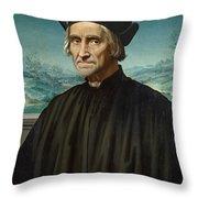 Portrait Of Girolamo Benivieni Throw Pillow