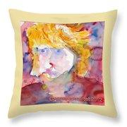 Portrait Of Graham Throw Pillow