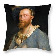 Portrait Of Gustave Courtois Throw Pillow