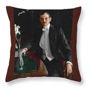 Portrait Of Harald Bildt Throw Pillow