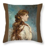 Portrait Of Harriet Valentine Throw Pillow