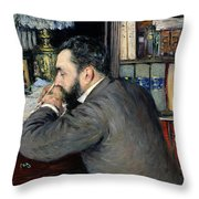Portrait Of Henri Cordier Throw Pillow