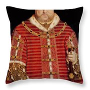 Portrait Of Henry Viii Throw Pillow by Hans Holbein the Younger