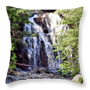 Portrait Of Houston Brook Falls Throw Pillow