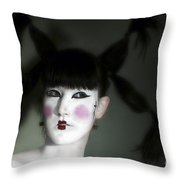 Portrait Of Japanese Model  Throw Pillow