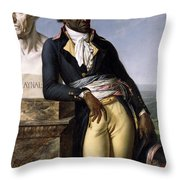 Portrait Of Jean-baptiste Belley Throw Pillow