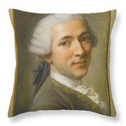 Portrait Of Jean Claude Gaspard Throw Pillow