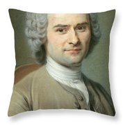Portrait Of Jean Jacques Rousseau Throw Pillow