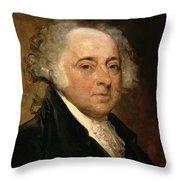 Portrait Of John Adams Throw Pillow by Gilbert Stuart