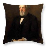 Portrait Of John B Gest Throw Pillow