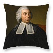 Portrait Of John Lee Attorney-general Wearing Legal Robes Throw Pillow
