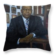 Portrait Of John Lewis Throw Pillow