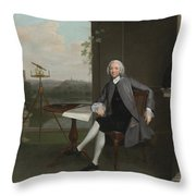 Portrait Of Jonas Hanway Throw Pillow