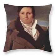 Portrait Of Joseph Antoine Moltedo Throw Pillow