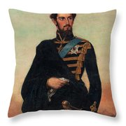Portrait Of Karl Xv In Uniform Throw Pillow