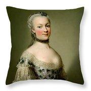 Portrait Of Katarzyny Z Zamoyskich Mniszchowej Throw Pillow
