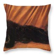 Portrait Of Katie Lewis Throw Pillow