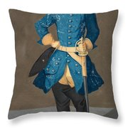 Portrait Of King Karl Xii Of Sweden Throw Pillow