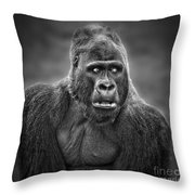 Portrait Of King Kongs Cousin IIi Throw Pillow