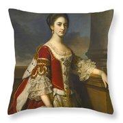 Portrait Of Lady Elizabeth Compton Later Countess Of Burlington Throw Pillow